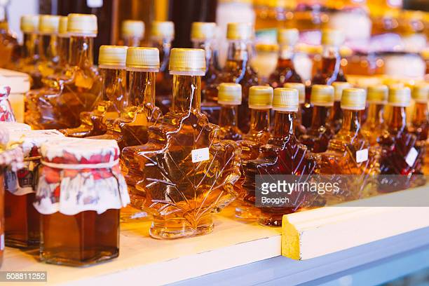 Canadian Maple Syrup Bottles For Sale Atwater Market Montreal Export