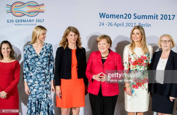 Canadian Minister of Foreign Affairs Chrystia Freeland First Daughter and Advisor to the US President Ivanka Trump cochairwoman of the W20 Stephanie...