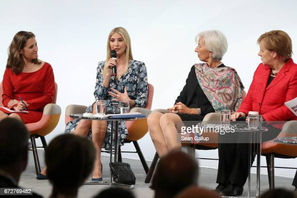Canadian Minister of Foreign Affairs Chrystia Freeland Ivanka Trump daughter of US President Donald Trump International Monetary Fund Managing...