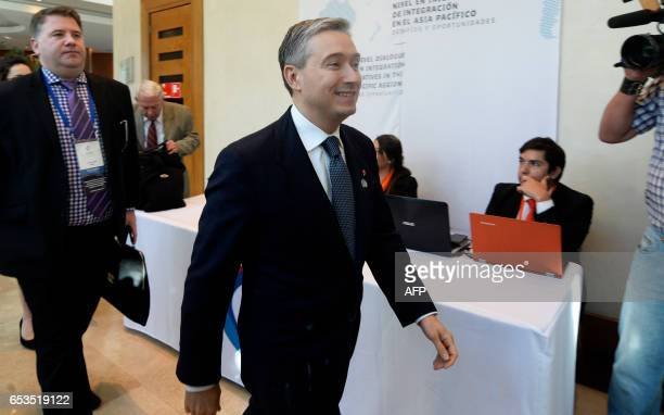 Canadian Minister of International Trade FrançoisPhilippe Champagne attends the Pacific Alliance Ministers' Summit in Vina del Mar Chile on March 15...