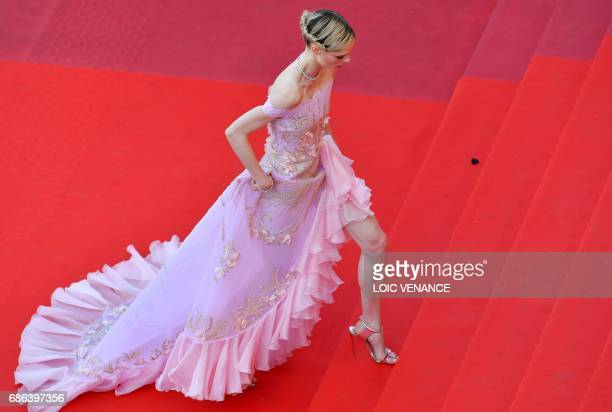 Canadian model Coco Rocha arrives on May 21 2017 for the screening of the film 'The Meyerowitz Stories ' at the 70th edition of the Cannes Film...