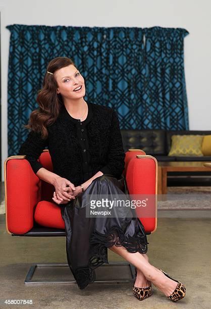 Canadian model Linda Evangelista poses at Sun Studios in Alexandria on October 28 2014 in Sydney Australia Evangelista is in Australia filming for...