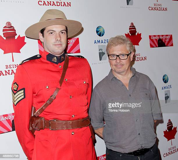 Canadian Mountie and Dave Foley attend the premiere of 'Being Canadian' at Crest Westwood on September 17 2015 in Westwood California