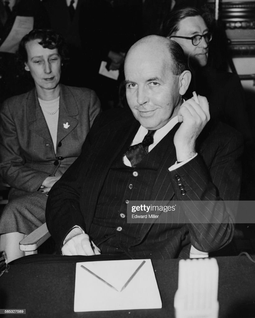 Canadian Norman Robertson pictured at the opening of the Five Nations Armaments Conference at Lancaster House in London February 25th 1955