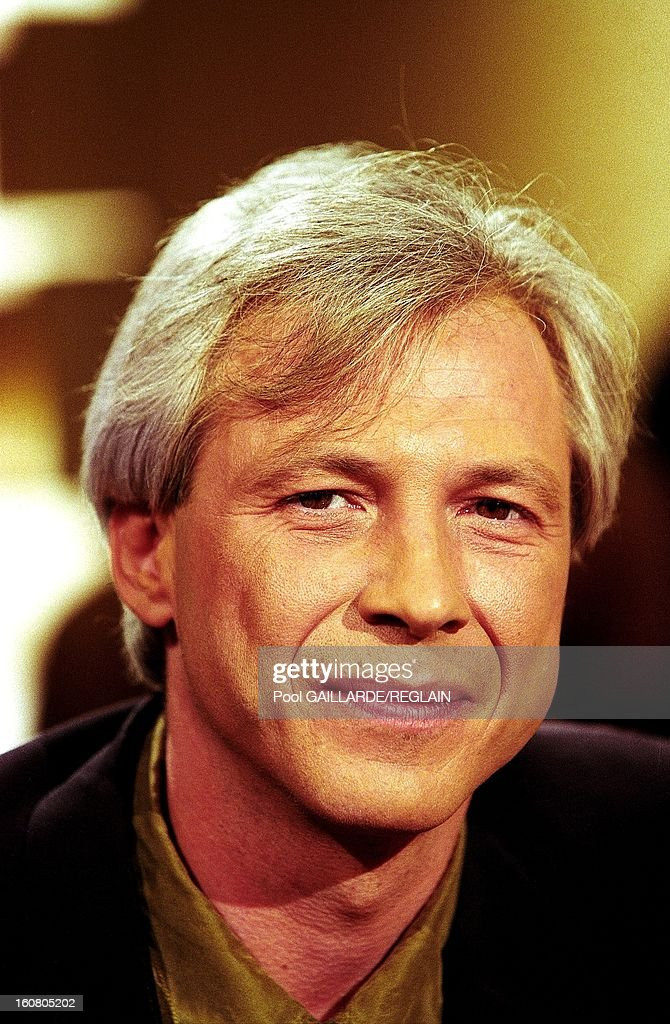 Canadian novelist Gaetan Soucy at 'Bouillon de culture' television show on March 20, 1999 in France.
