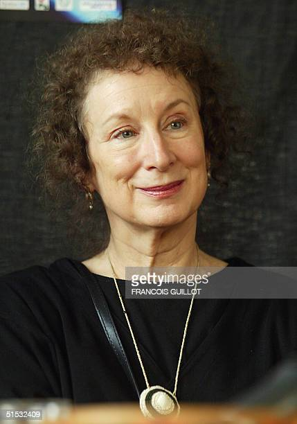 Canadian novelist Margaret Atwood poses 19 October 2002 in Vincennes during the first 'America Festival' on North American literature that takes...