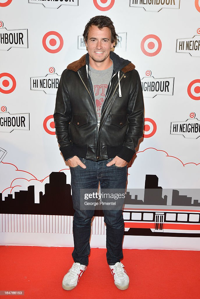 Canadian Olympic Gold medal Kayaker Adam Van Koeverden attends the opening of Target At Shoppers World Danforth on March 27, 2013 in Toronto, Canada.