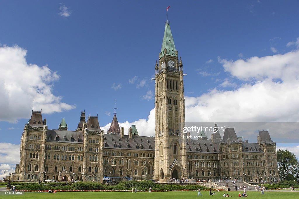 Canadian Parliament in Ottawa City : Stock Photo