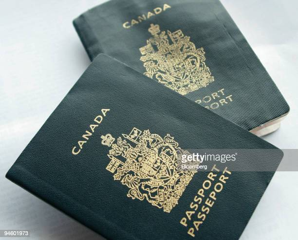 Canadian passports are arranged for a photograph in Big White Canada on Monday Jan 22 in Canada