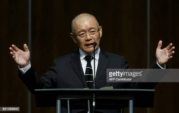 Canadian pastor Hyeon Soo Lim addresses his congregation at the Light Korean Presbyterian Church in Mississauga on August 13 2017 after being freed...