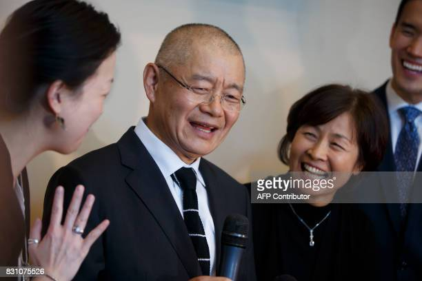 Canadian pastor Hyeon Soo Lim addresses media and his congregation alongside his wife Geum Young Lim right at the Light Korean Presbyterian Church in...