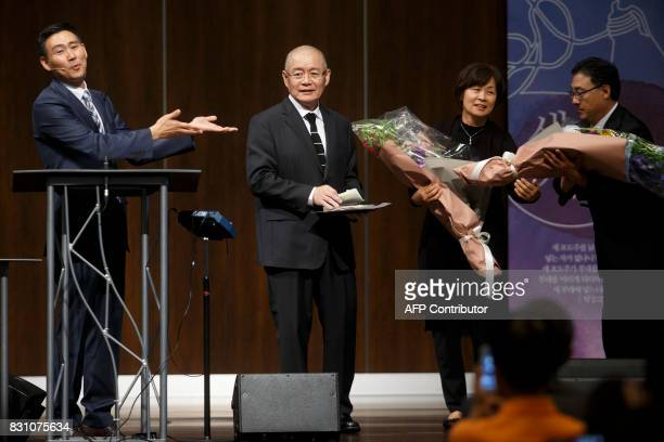 Canadian pastor Hyeon Soo Lim is introduced to his congregation alongside his wife Geum Young Lim at the Light Korean Presbyterian Church in...