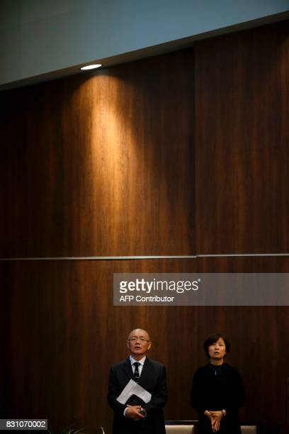 Canadian pastor Hyeon Soo Lim stands alongside his wife Geum Young Lim at the Light Korean Presbyterian Church in Mississauga on August 13 2017 after...