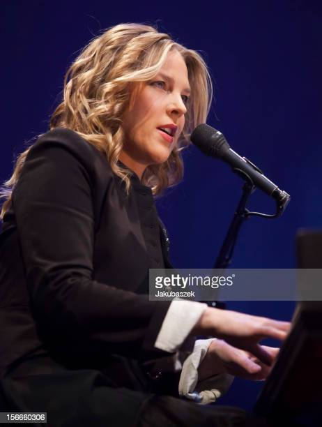 Canadian pianist Diana Krall performs live during a concert at the Tempodrom on November 18 2012 in Berlin Germany
