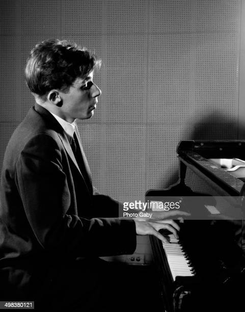 Canadian pianist Glenn Gould at a piano Toronto Canada 1956