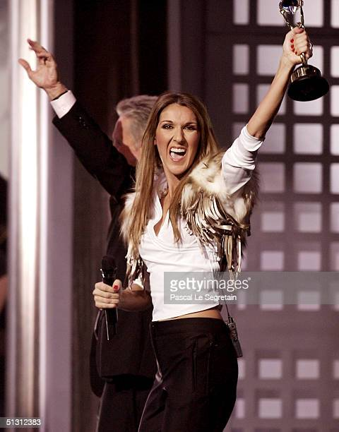Canadian pop diva Celine Dion receives the Diamond Award a special honor for being the topselling female artist of all time from actor Michael...