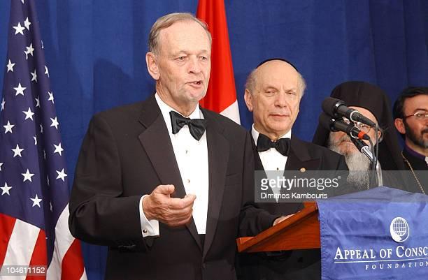 Canadian Prime Minister Jean Chretien Rabbi Arthur Schneier and Greek Archbishop Demetrios
