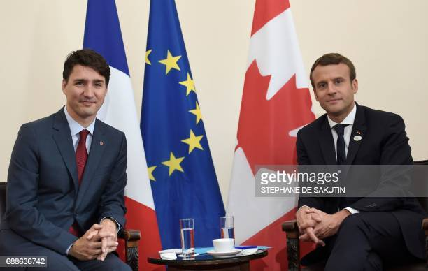 Canadian Prime Minister Justin Trudeau and French President Emmanuel Macron have taken seat for a bilateral meeting as they attend the Summit of the...
