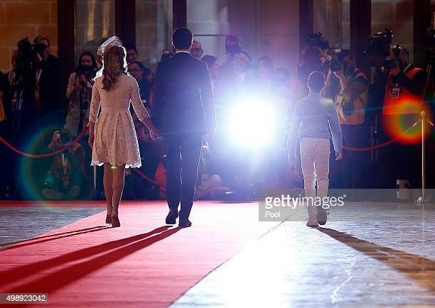 Canadian Prime Minister Justin Trudeau and his wife Sophie Gregoire arrive for the opening ceremony of the Commonwealth Heads of Government Meeting...