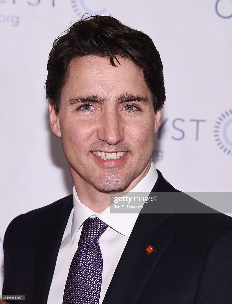 Canadian Prime Minister <a gi-track='captionPersonalityLinkClicked' href=/galleries/search?phrase=Justin+Trudeau&family=editorial&specificpeople=2616495 ng-click='$event.stopPropagation()'>Justin Trudeau</a> attends the Catalyst Awards Dinner at Waldorf Astoria Hotel on March 16, 2016 in New York City.