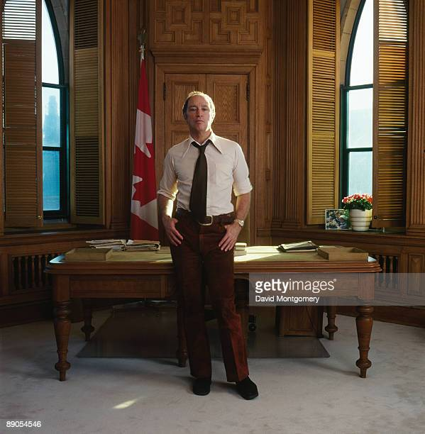 Canadian Prime Minister Pierre Trudeau in his office February 1973