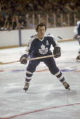 Canadian pro hockey player Ron Ellis of the Toronto Maple Leafs on the ice 1970s