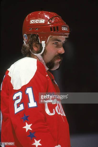 Canadian professional hockey player Dennis Maruk forward for the Washington Capitals November 1978