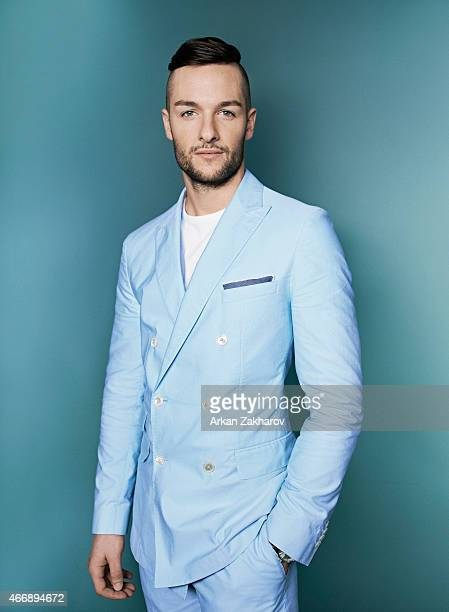 Canadian professional ice hockey goaltender is photographed Jonathan Bernier for Elle Canada Man on January 30 2015 in Toronto Ontario Cover Image