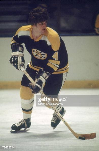 Canadian professional ice hockey player Bobby Orr of the Boston Bruins skates on the ice during an away game late 1960s or early 1970s Orr played for...