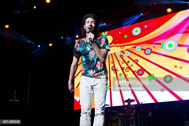 Canadian reggae fusion band Magic performs during 1035 KTU's KTUphoria 2014 at the Izod Center on June 29 2014 in East Rutherford New Jersey