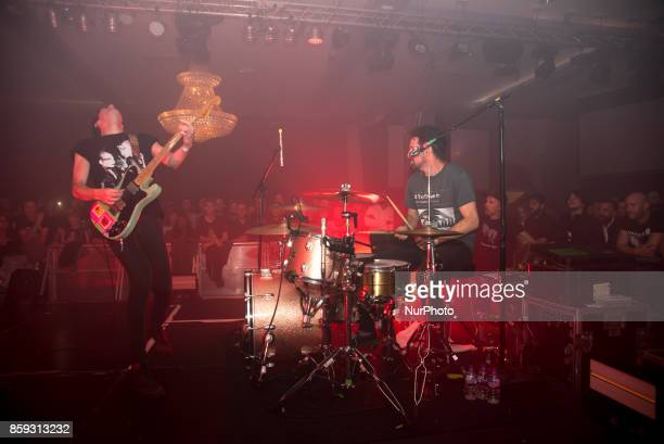 Canadian rock band Japandroids is pictured live on stage at Epic Dalston in London on August 30 2017 Japandroids are a Canadian rock band from...