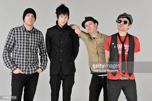 Canadian rock band Sum 41 Steve Jocz Jason McCaslin Tom Thacker and Deryck Whibley taken on February 22 2011