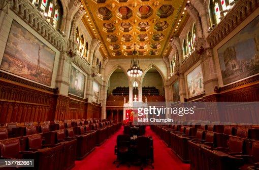 Canadian Senate Chambers : Stock Photo
