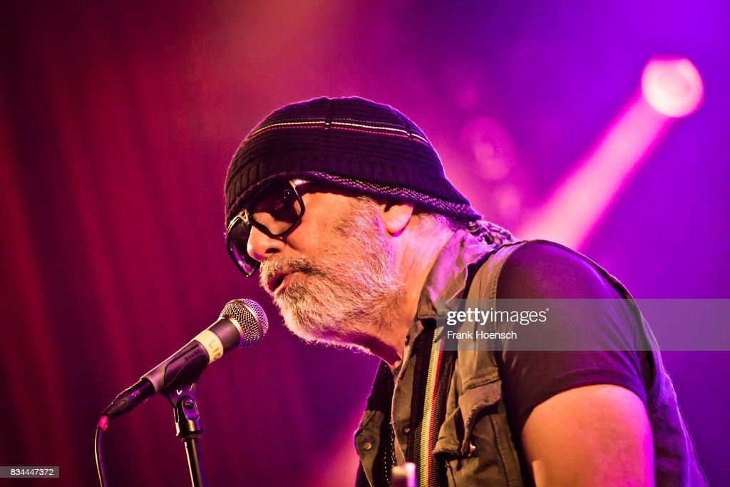 Canadian singer and musician Daniel Lanois performs live on stage during a concert at the Lido on August 12, 2017 in Berlin, Germany.