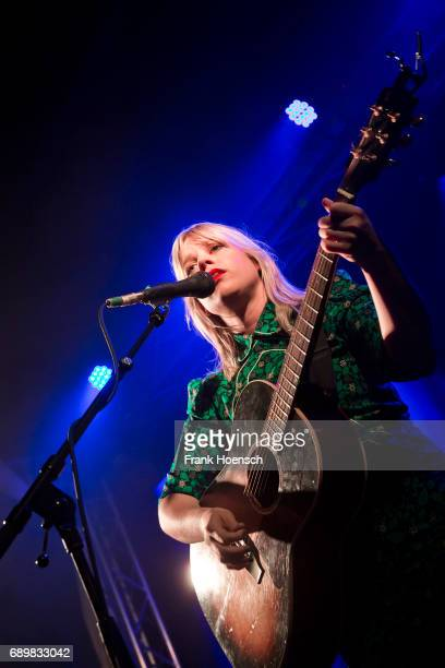 Canadian singer Basia Bulat performs live on stage during a concert at the Frannz on May 29 2017 in Berlin Germany