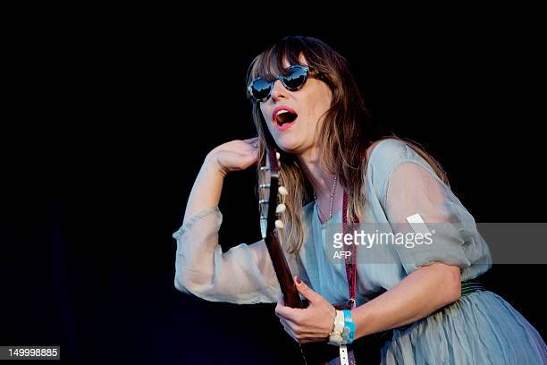 Canadian singer Feist performs at the Oya music festival in Oslo on August 8 2012 AFP PHOTO / SCANPIX NORWAY / Stian Lysberg Solum