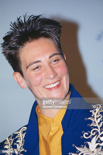 Canadian singer kd Lang during the Grammy Awards at the Shrine Auditorium Los Angeles 21st February 1990 She is there to collect the Best Female...