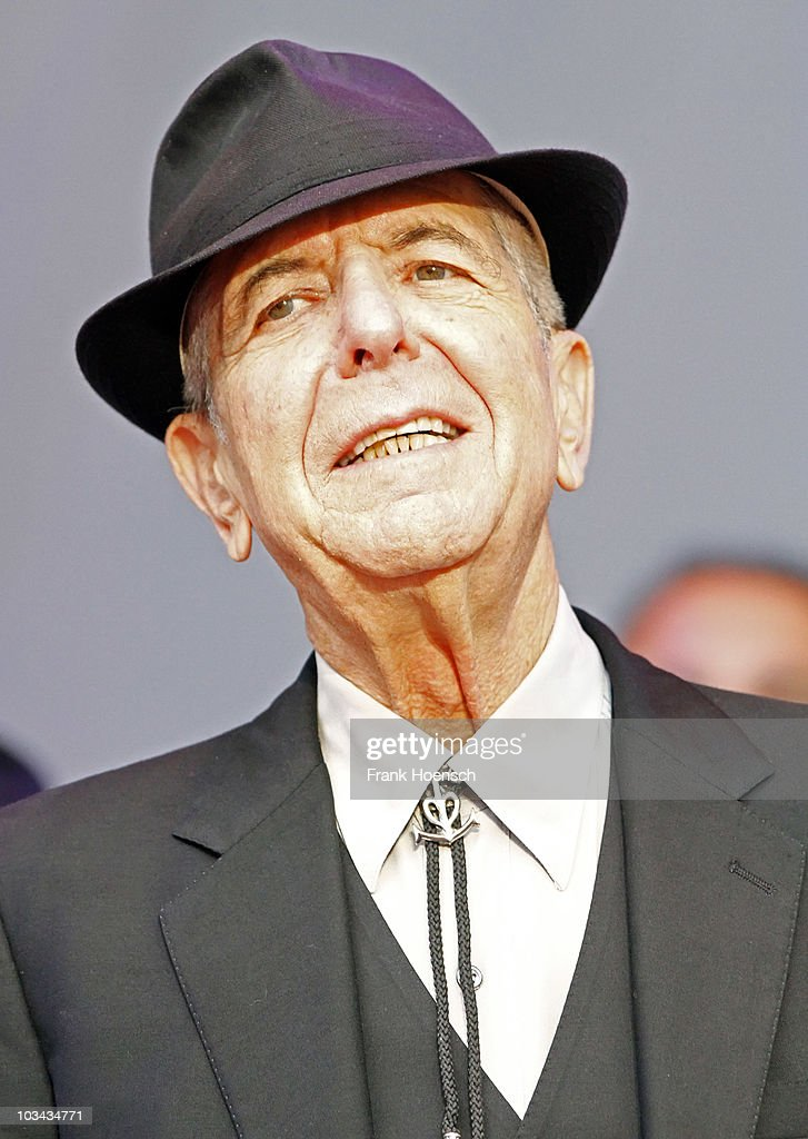 Canadian singer Leonard Cohen performs live during a concert at Waldbuehne on August 18, 2010 in Berlin, Germany.