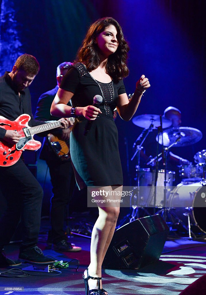 Canadian singer Nikki Yanofsky performs at the 3rd Annual Bliss Ball presented by the The Dilawri Foundation held at Fort York on September 20 2014...