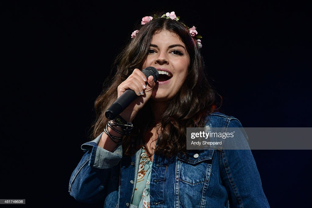 Canadian singer Nikki Yanofsky performs on stage at Love Supreme Jazz Festival at Glynde Place on July 5 2014 in Lewes United Kingdom