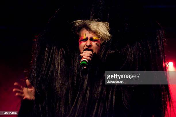 Canadian singer Peaches performs live during a concert at the Astra Club on December16 2009 in Berlin Germany The concert is part of the 2009 tour