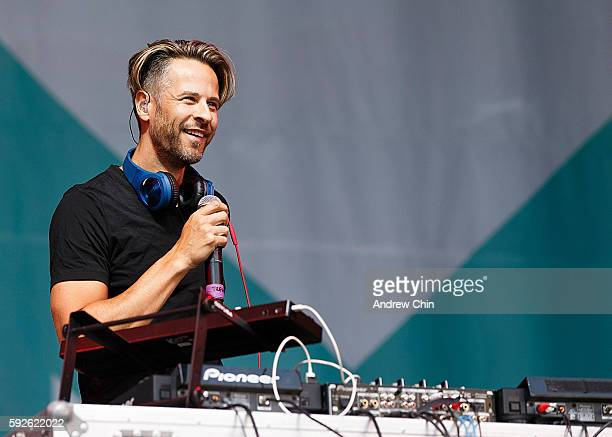 Canadian singer Trevor Guthrie performs onstage during KiSS RADiO's Wham Bam at PNE Amphitheatre on August 20 2016 in Vancouver Canada