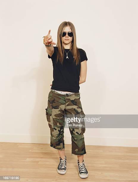 Canadian singersongwriter Avril Lavigne circa 2002