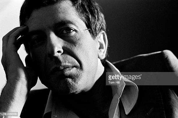 Leonard Cohen being interviewed
