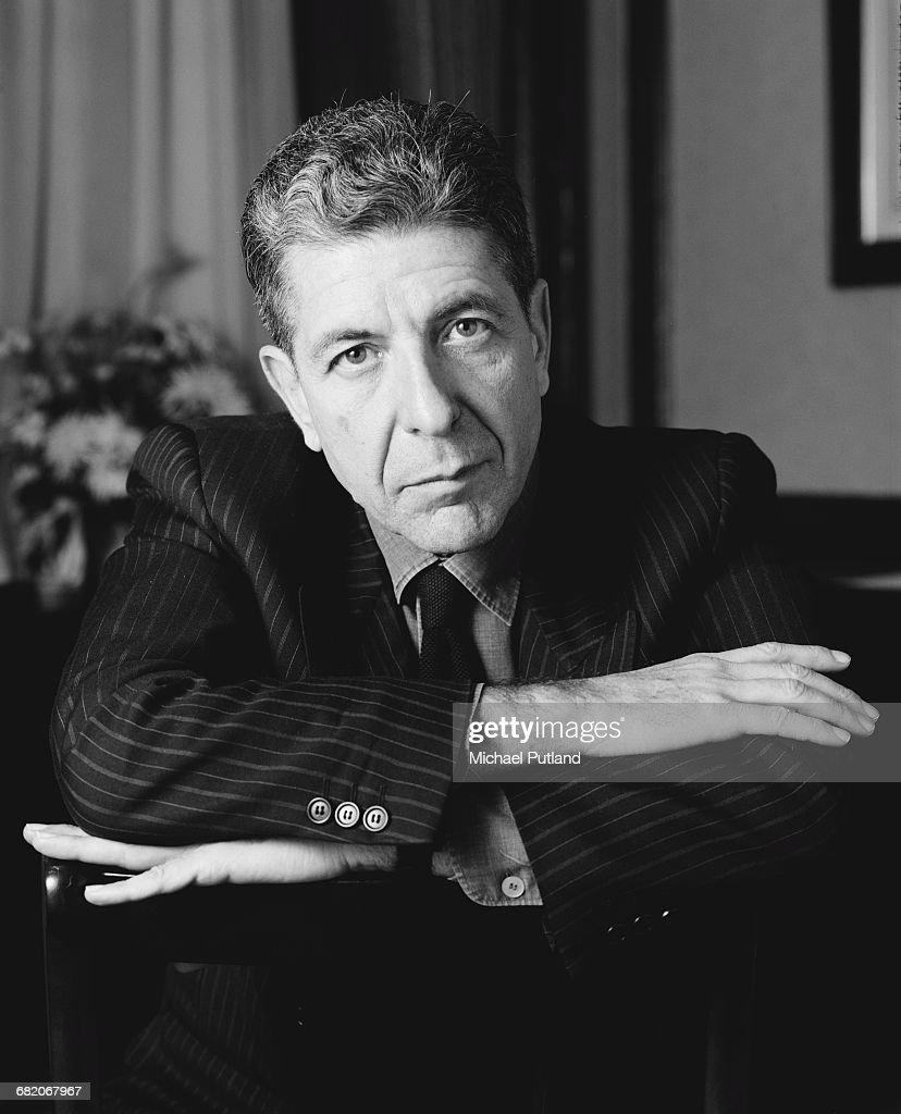 Canadian singer-songwriter Leonard Cohen (1934 - 2016), London, December 1987.