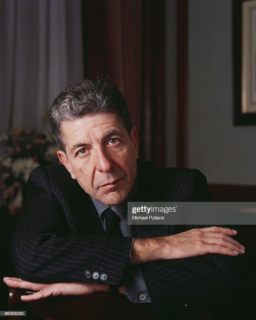 Canadian singer-songwriter Leonard Cohen (1934 – 2016), London, December 1987.