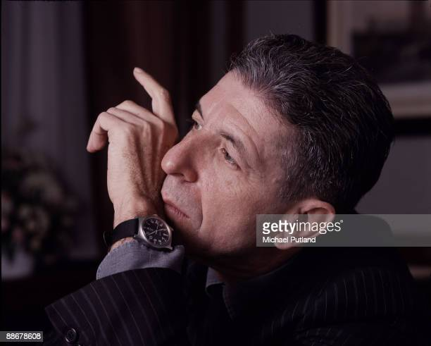 Canadian singersongwriter Leonard Cohen London December 1987