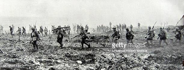 Canadian soldiers at the frontline during World war One 1917