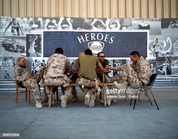 Canadian soldiers from the Operational Mentoring and Liaison Team take a rest at the International Security Assistance Force military base in...
