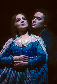 American soprano Teresa Stratas and Spanish tenor Jose Carreras perform at the final dress rehearsal prior to the premiere of the Metropolitan...